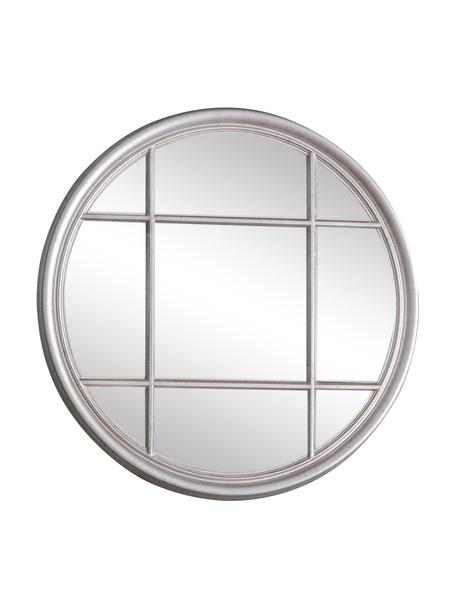 Okrągłe lustro ścienne z drewnianą ramą Eccleston, Odcienie srebrnego, Ø 100 x G 4 cm