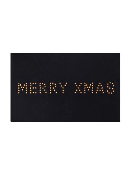 Verlichte deurmat Lysa, Kunststof, Zwart, 80 x 50 cm