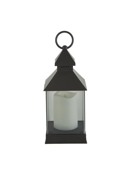 Mobiel lantaarn Flame met LED-kaarsen, 6 stuks, Frame: kunststof, Zwart, 10 x 25 cm