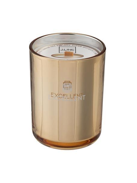 Geurkaars Excellent (honing), Houder: glas, Goudkleurig, Ø 9 x H 12 cm