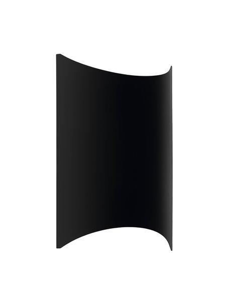Outdoor LED wandlamp Lagasco, Lamp: verzinkt staal, Zwart, 19 x 28 cm