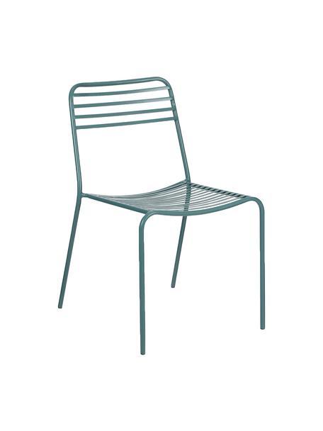 Sedia in metallo Tula 2 pz, Metallo verniciato a polvere, Verde, Larg. 48 x Prof. 54 cm