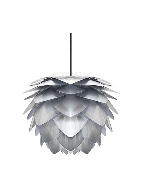 Lámpara de techo Silvia, kit de montaje, Pantalla: polipropileno, Anclaje: plástico, Cable: cubierto en tela, Colores de acero, Ø 32 x Al 25 cm