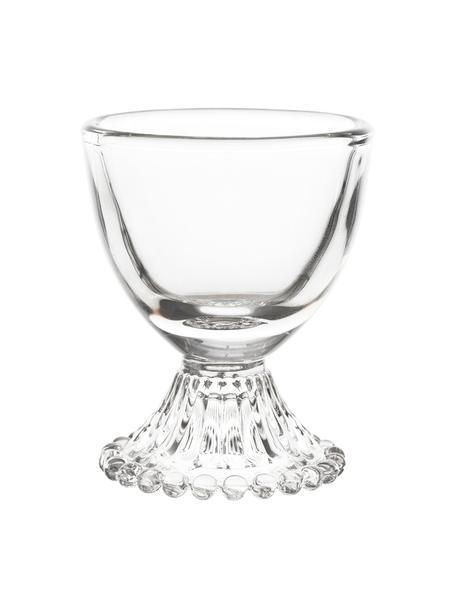 Portauova Perles 6 pz, Vetro, Trasparente, Ø 6 x Alt. 7 cm