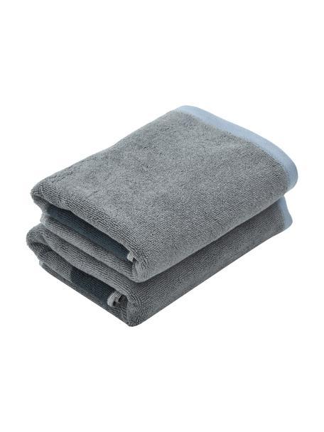 Asciugamano in diverse dimensioni Rock, 100% cotone biologico, Blu, grigio, Asciugamano per ospiti