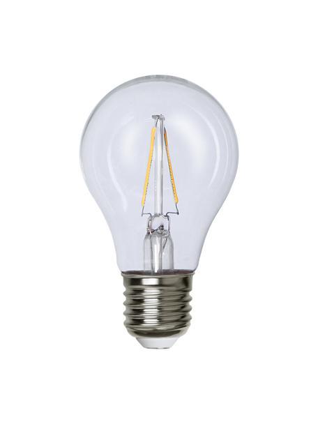 E27 Leuchtmittel, 2W, warmweiß, 3 Stück, Leuchtmittelschirm: Glas, Leuchtmittelfassung: Aluminium, Transparent, Ø 6 x H 11 cm