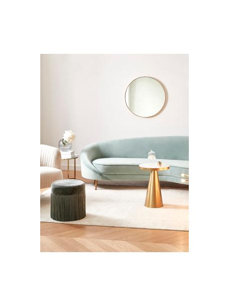 Samt-Nierensofa Gatsby (3-Sitzer) in Türkis, Bezug: Samt (Polyester) 25.000 S, Gestell: Massives Eukalyptusholz, Samt Türkis, B 245 x T 102 cm