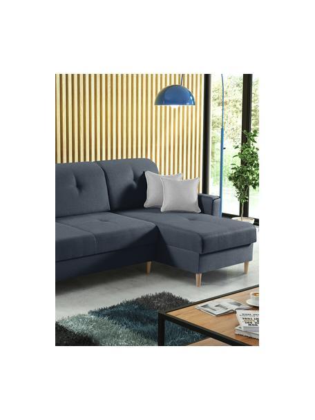Sofá cama rinconero Hilton, con espacio de almacenamiento, Tapizado: 100%poliéster, Gris antracita, An 234 x F 146 cm