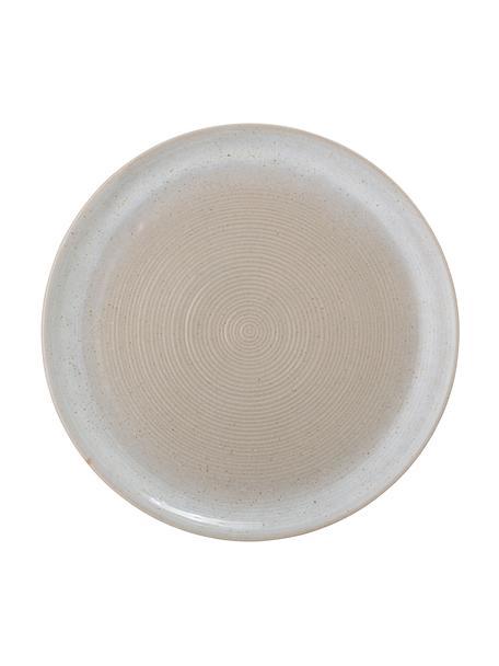 Speiseteller Taupe mit handgefertigter Sprenkelglasur, 2 Stück, Steingut, Grau, Ø 27 cm