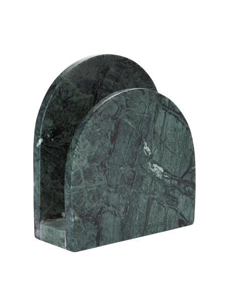 Stojak na serwetki z marmuru Charlton, Marmur, Zielony, S 15 x W 14 cm