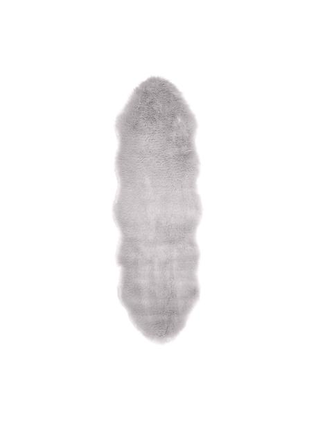 Imitatie schapenvacht Mathilde, glad, Bovenzijde: 65% acryl, 35% polyester, Onderzijde: 100% polyester, Lichtgrijs, 60 x 180 cm