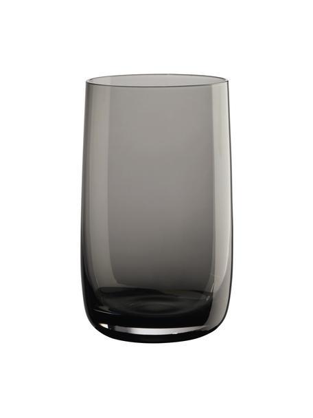 Wassergläser Colored, 6 Stück, Glas, Grau, transparent, Ø 8 x H 13 cm
