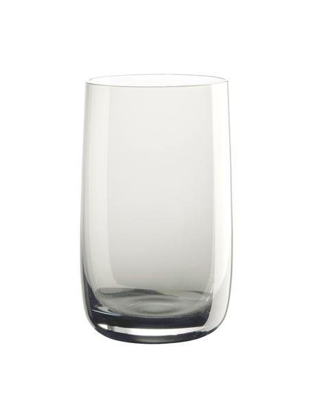 Wassergläser Colored in Grau, 6 Stück, Glas, Grau, transparent, Ø 8 x H 13 cm