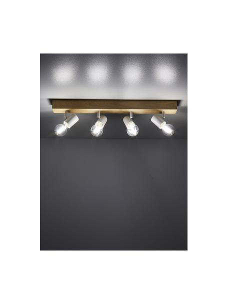 Lampa sufitowa z drewna Townshend, Biały, drewno naturalne, S 63 x D 13 cm