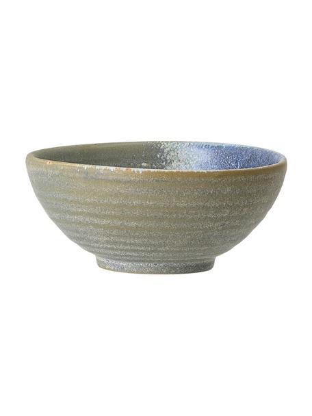 Cuenco artesanal de gres Aura, Gres, Tonos azules y verdes, Ø 14 cm