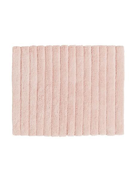 Flauschiger Badvorleger Board in Rosa, 100% Baumwolle, schwere Qualität, 1900 g/m², Rosa, 50 x 60 cm