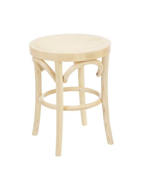 Sgabello con intreccio viennese Franz, Seduta: rattan, Struttura: legno di faggio massiccio, Legno chiaro, Ø 36 x Alt. 45 cm