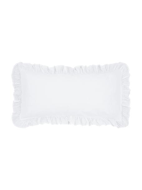 Poszewka na poduszkę z bawełny z efektem sprania Florence, 2 szt., Biały, S 40 x D 80 cm