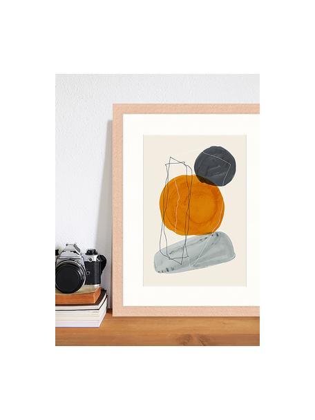 Gerahmter Digitaldruck Creative Abstract, Bild: Digitaldruck auf Papier, , Rahmen: Holz, lackiert, Front: Plexiglas, Mehrfarbig, 33 x 43 cm