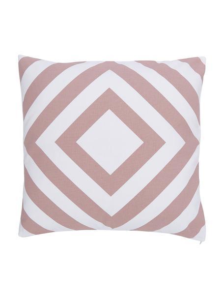 Poszewka na poduszkę Sera, 100% bawełna, Biały, brudny różowy, S 45 x D 45 cm