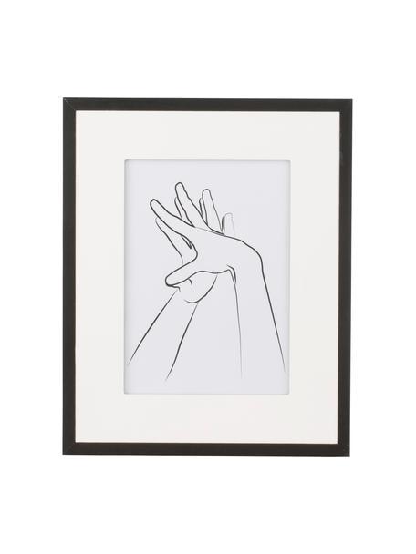 Bilderrahmen Austin Hands, Rahmen: Mitteldichte Holzfaserpla, Front: Glas, Schwarz, 13 x 18 cm