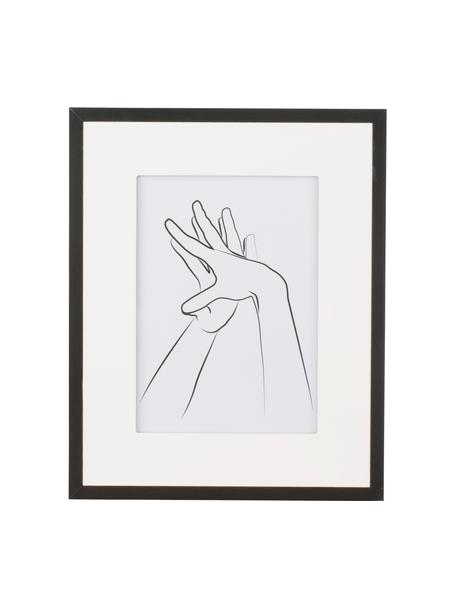 Fotolijstje Austin Hands, Lijst: gecoat MDF, Zwart, 13 x 18 cm