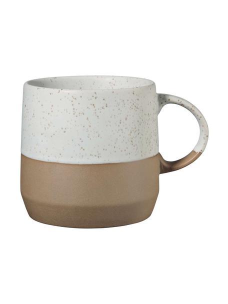Tazza marrone/beige opaca Caja 2 pz, Terracotta, Tonalità marroni e tonalità beige, Ø 9 x Alt. 9 cm