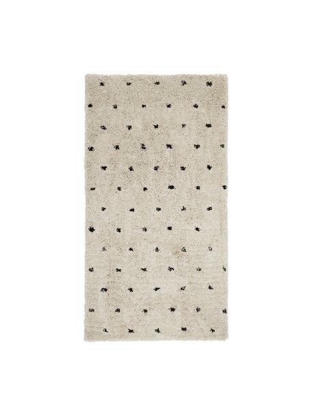 Puszysty dywan Ayana, Beżowy, czarny, S 80 x D 150 cm (Rozmiar XS)