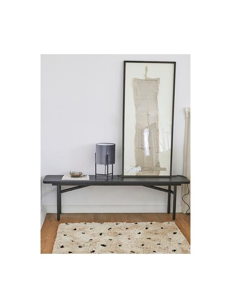 Puszysty dywan z wysokim stosem Ayana, Beżowy, czarny, S 80 x D 150 cm (Rozmiar XS)