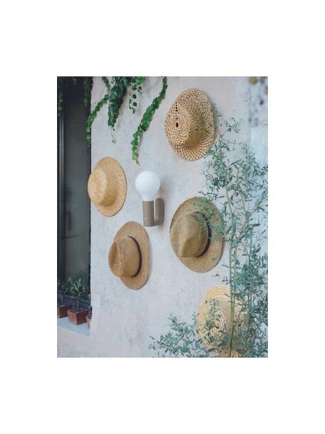 Soporte de pared para lámpara de exterior Aplô, Anclaje: aluminio recubierto, Marrón nuez, An 5 x Al 12 cm