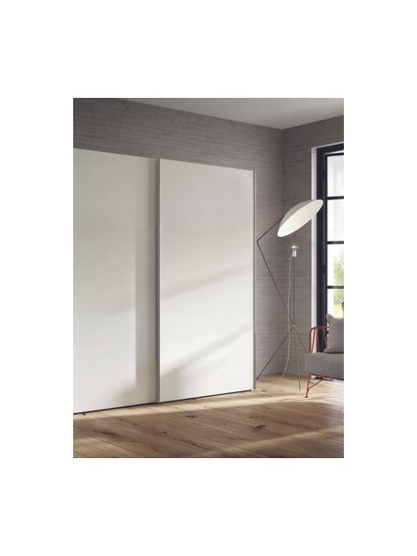 Kleiderschrank Oliver mit Schiebetüren in Weiss, Korpus: Holzwerkstoffplatten, lac, Weiss, 202 x 225 cm