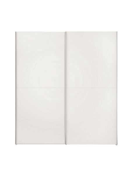 Kleiderschrank Oliver mit 2 Schiebetüren, inkl. Montageservice, Korpus: Holzwerkstoffplatten, lac, Weiß, 202 x 225 cm