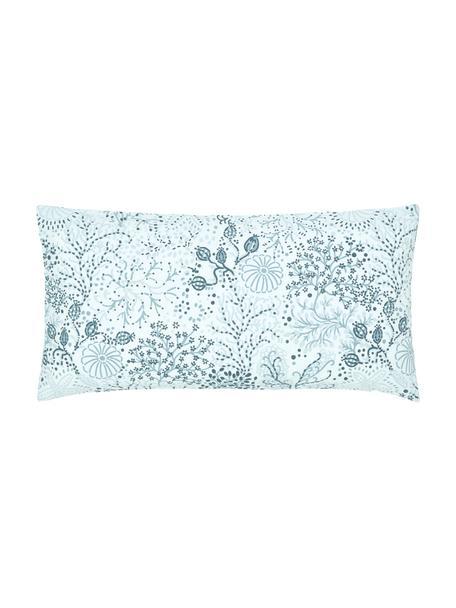 Fundas de almohada de algodón Nadira, 2uds., Azul, An 40 x L 80 cm