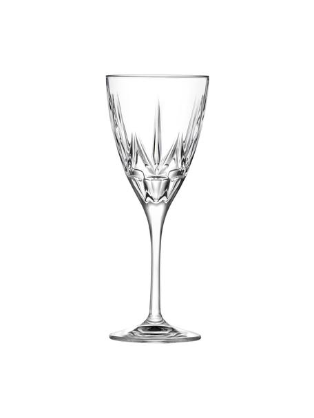 Rode wijnglazen Chic met reliëf, 6 stuks, Luxion kristalglas, Transparant, Ø 9 x H 22 cm