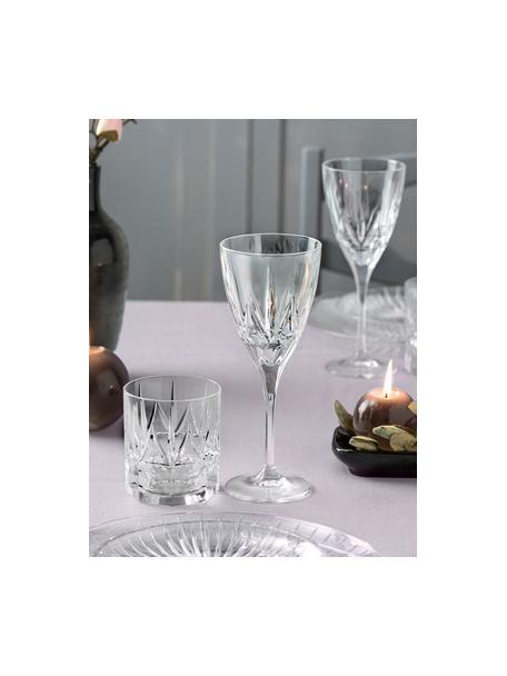 Copas de vino tinto de cristal con relieve Chic, 6uds., Cristal Luxion, Transparente, Ø 9 x Al 22 cm