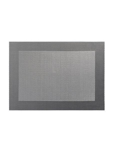 Kunststoffen placemats Trefl, 2 stuks, Kunststof (PVC), Grijstinten, 33 x 46 cm