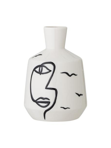 Vase Norma aus Steingut, Steingut, Weiss, Ø 10  H 16 cm