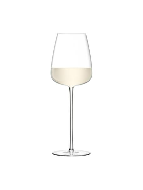 Copas de vino blanco de vidrio soplado artesanalmente Wine Culture, 2uds., Vidrio, Transparente, Ø 9 x Al 26 cm