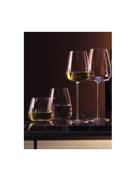Mondgeblazen witte wijnglazen Wine Culture, 2 stuks, Glas, Transparant, Ø 9 x H 26 cm