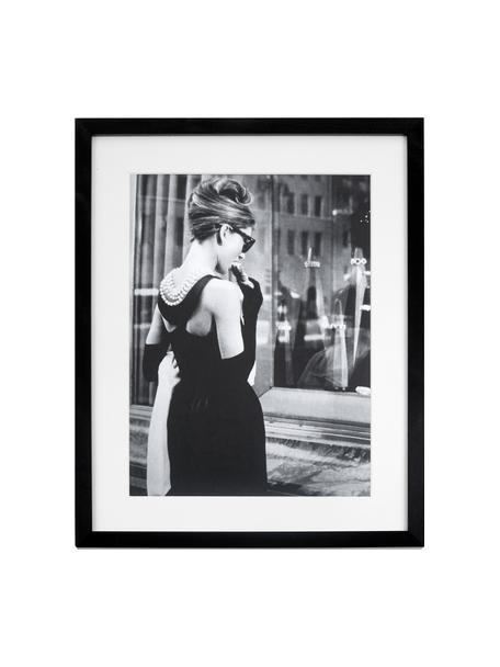 Impresión digital enmarcada Breakfast at Tiffany´s, Negro, blanco, An 33 x Al 43 cm