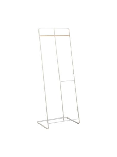 Metalen kledingrek Towi in wit, Frame: gepoedercoat metaal, Stang: hout, Wit, 61 x 163 cm