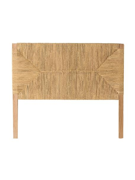 Zagłówek z drewna naturalnego Bubu, Drewno mangowe, Beżowy, S 140 x W 120 cm
