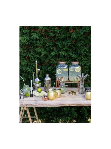 Drankdispenser Summer Party met koperkleurig frame, 2-delig, Frame: gecoat metaal, Transparant, koperkleurig, Alle 3.5 L
