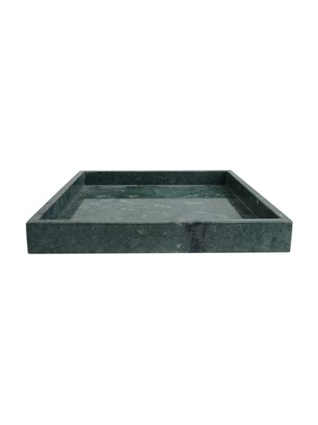Vassoio decorativo in marmo Ciaran, Marmo, Verde marmorizzato, Larg. 30 x Prof. 30 cm