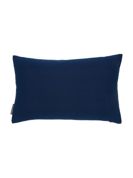Funda de cojín para exterior Blopp, Dralon (100%poliacrílico), Azul oscuro, An 30 x L 47 cm