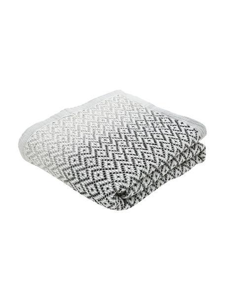 Copriletto Dia, 100% cotone, Nero, bianco, Larg. 180 x Lung. 235 cm (per letti da 140 x 200)