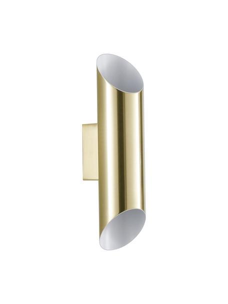 Aplique Renee, Pantalla: metal cepillado, Dorado mate, An 7 x Al 28 cm