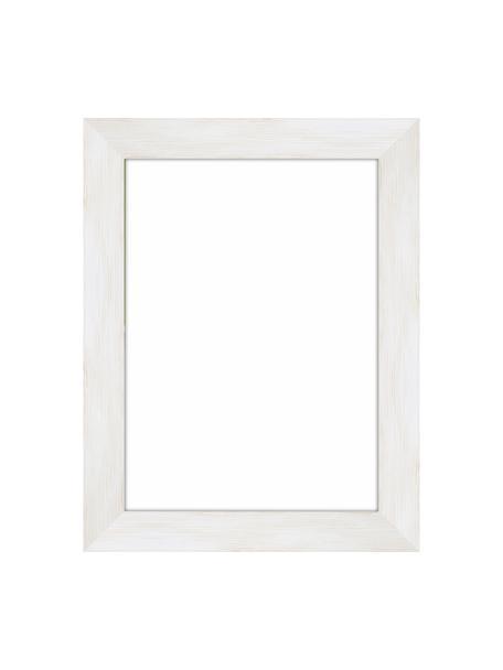 Bilderrahmen Magic, Rahmen: Monterey-Kiefernholz, lac, Front: Glas, Rückseite: Mitteldichte Holzfaserpla, Weiss, 13 x 18 cm