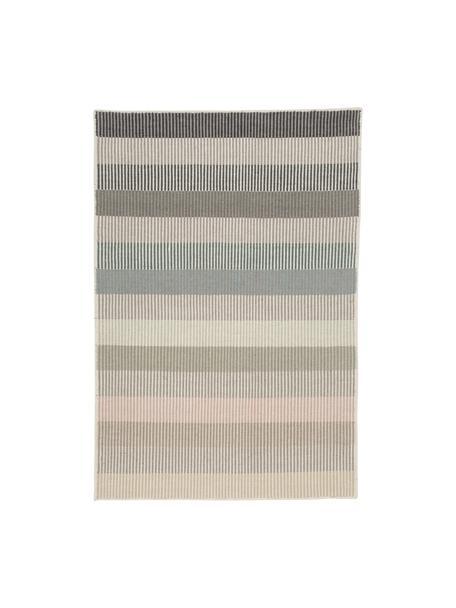 Tappeto kilim a righe in lana tessuto a mano Devise, 100% lana Nel caso dei tappeti di lana, le fibre possono staccarsi nelle prime settimane di utilizzo, questo e la formazione di lanugine si riducono con l'uso quotidiano, Multicolore, Larg. 140 x Lung. 200 cm (taglia S)