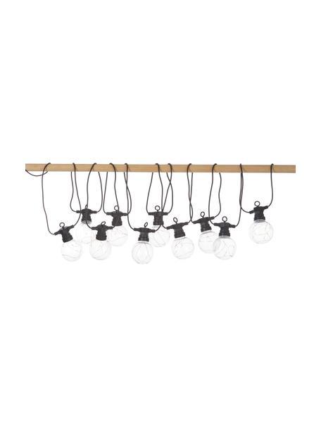 Outdoor LED lichtslinger Big Cirkus, 950 cm, 10 lampions, Lampions: kunststof, Zwart, L 950 cm